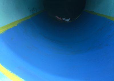 Waterslide before swimming pool renovations | Jadan Pool Renovations