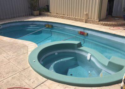 Before swimming pool renovations   Jadan Pool Renovations