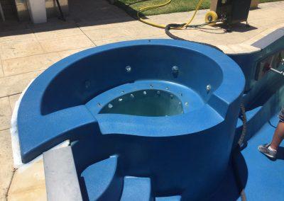 Renovating pool
